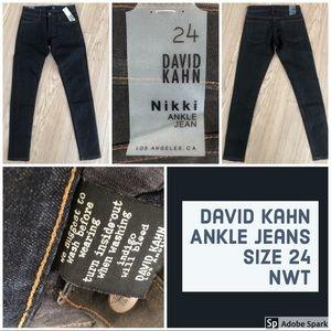 David Kahn Ankle Jeans, NWT